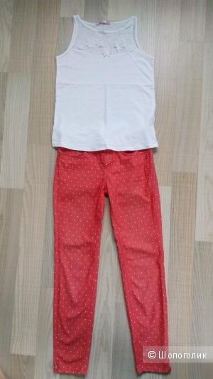 Комплект джинсы и топ размер xs
