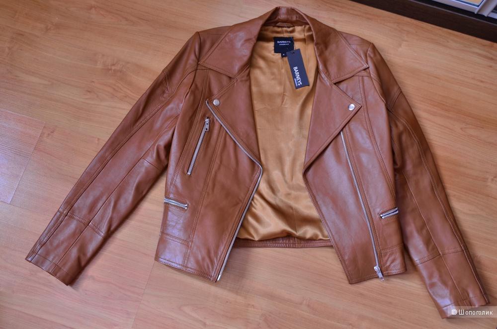 Кожаная байкерская куртка Barney's Originals размер 10 UK