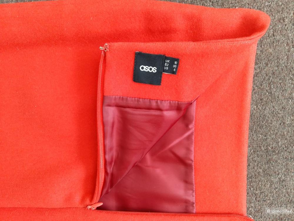 Красная юбка ASOS с шерстью размер 10UK