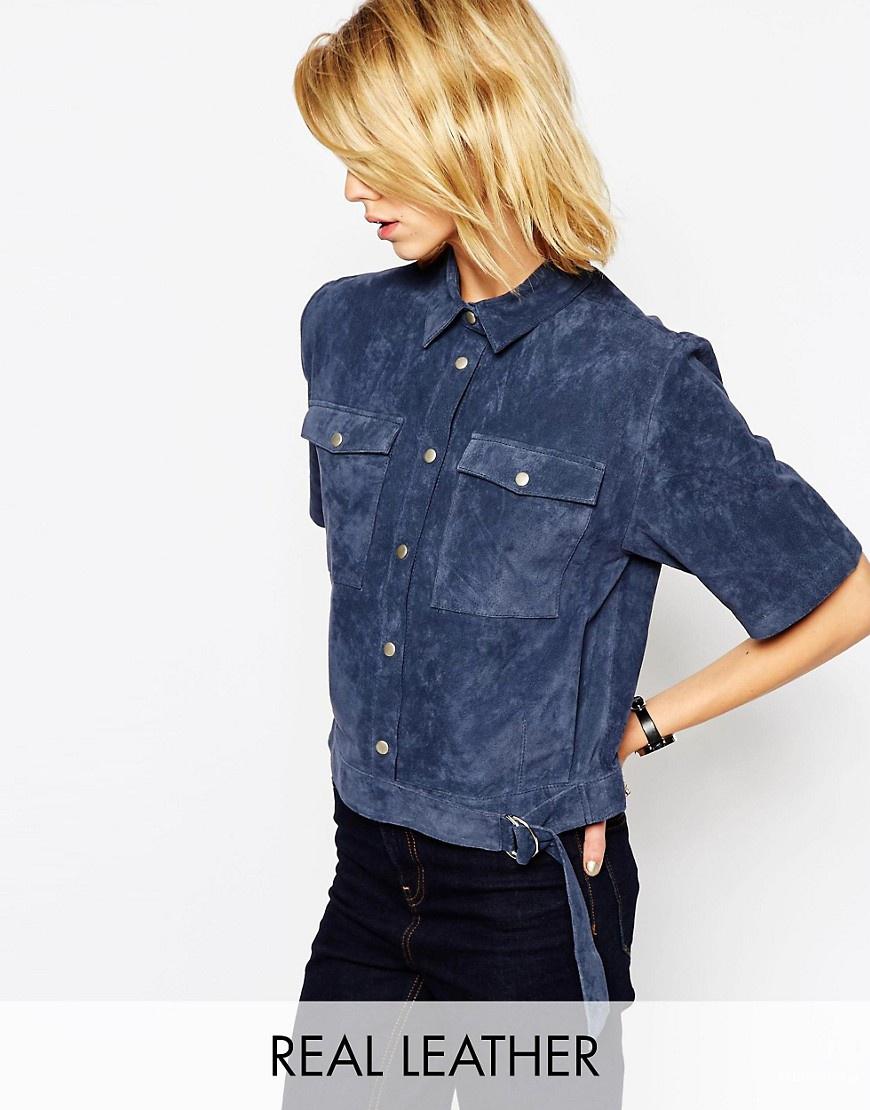 Замшевая рубашка Asos размер UK6