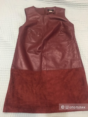 Кожаное платье, р L-XL