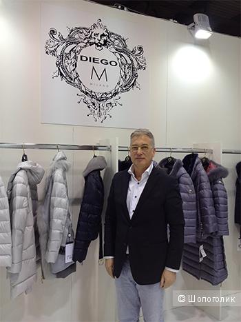 Кожаная куртка Diego M,размер М-L