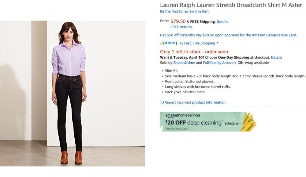 Классическая женская блузка Ralph Lauren S