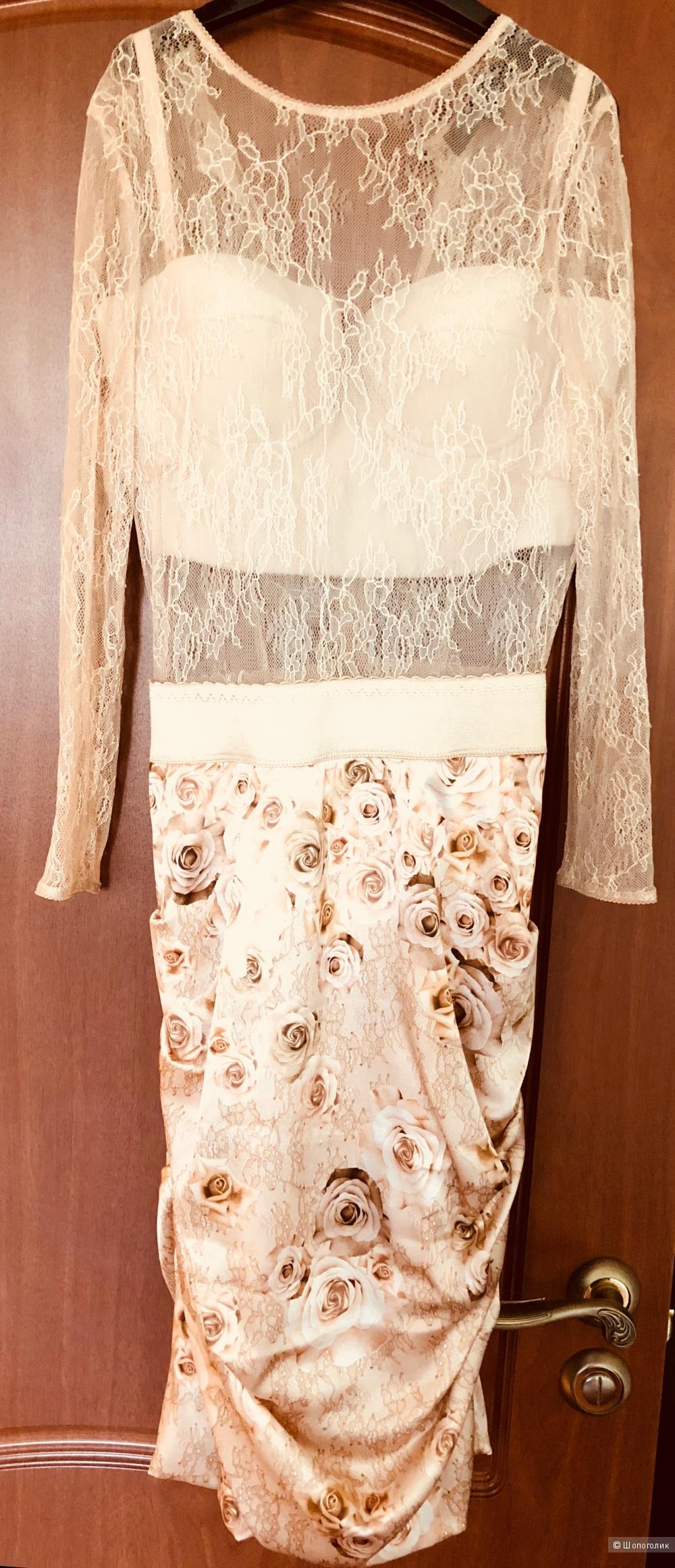 Платье кружево, шелк Elisabetta Franchi 42