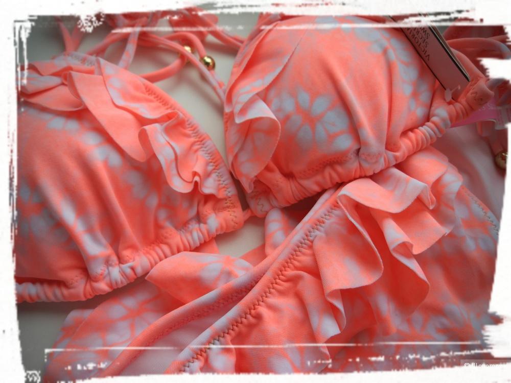Купальник Victoria's secret верх Flounce Teeny Triangle Top размер M и плавки The Flounce Teeny Bikini размер М
