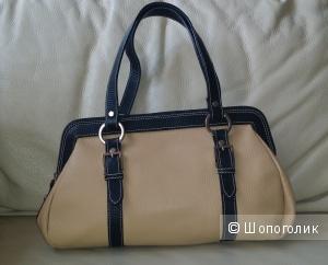 Кожаная сумка- саквояж