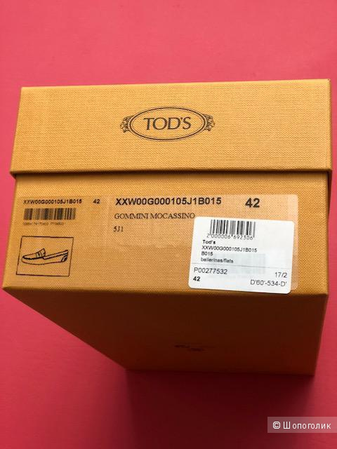 Мокасины Tod`s, 42 размер