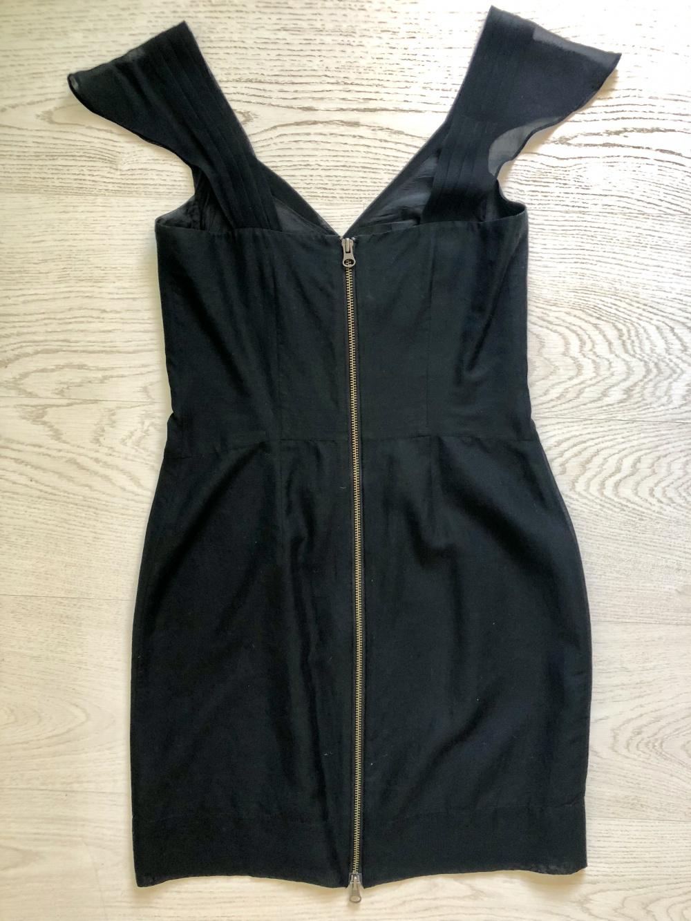 Платье All Saints, чёрное, размер 42
