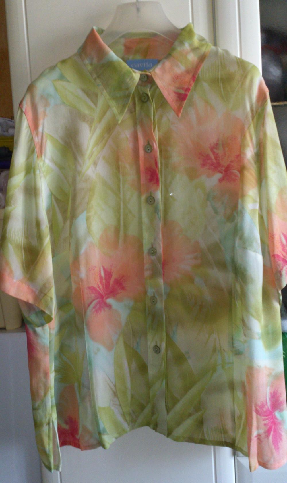 Блузка - рубашка Cavita, размер 50(нем) = 54-56 (рос)