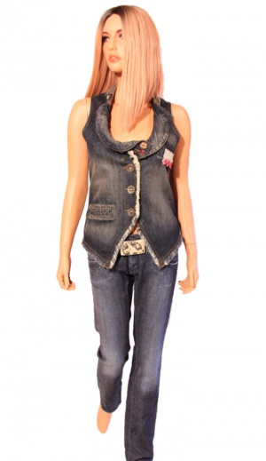 Комплект жилет (размер 44-46М) и джинсы  Pepe Jeans размер 28 (44RU)