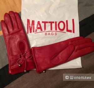Перчатки кожаные Noname 7,5 размер