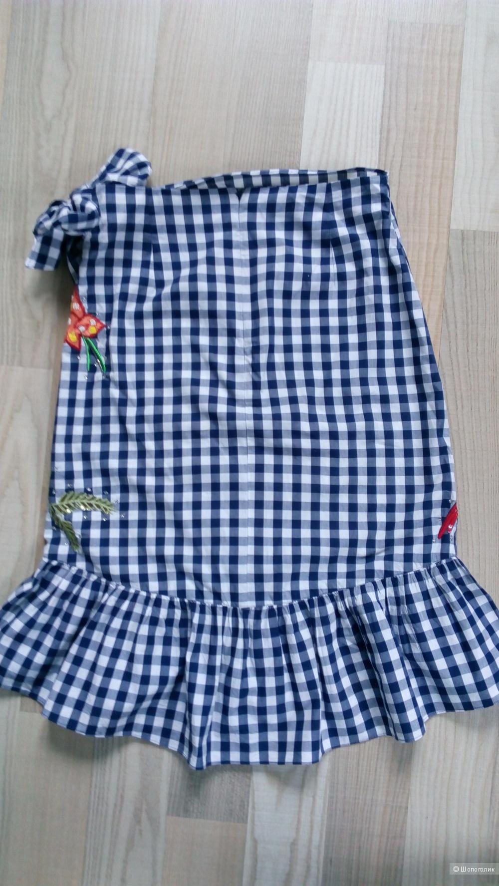 Комплект топ и юбка zara размер 42-44