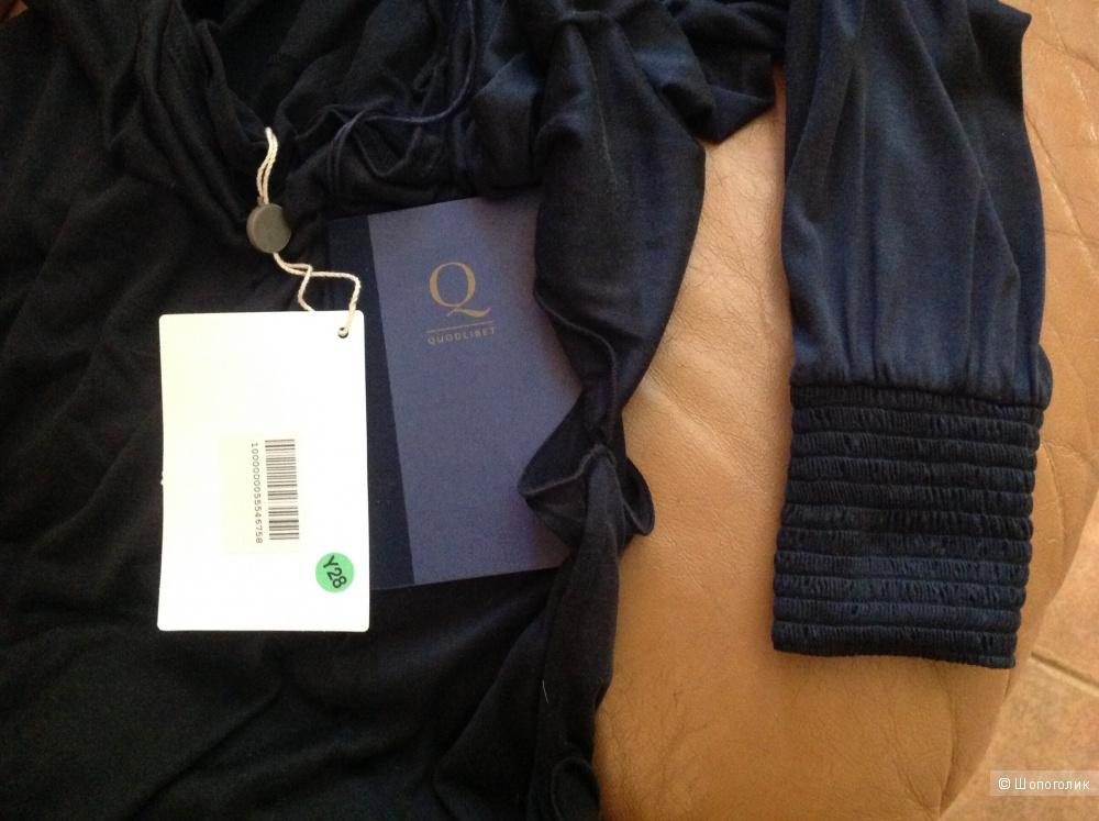 Шелковая кофта с капюшоном Quodlibet 46рус