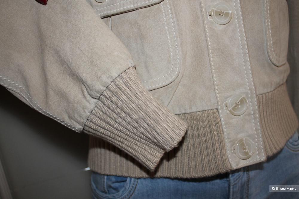 Замшевая курта бренда HALLHUBER, размер 38-40-42