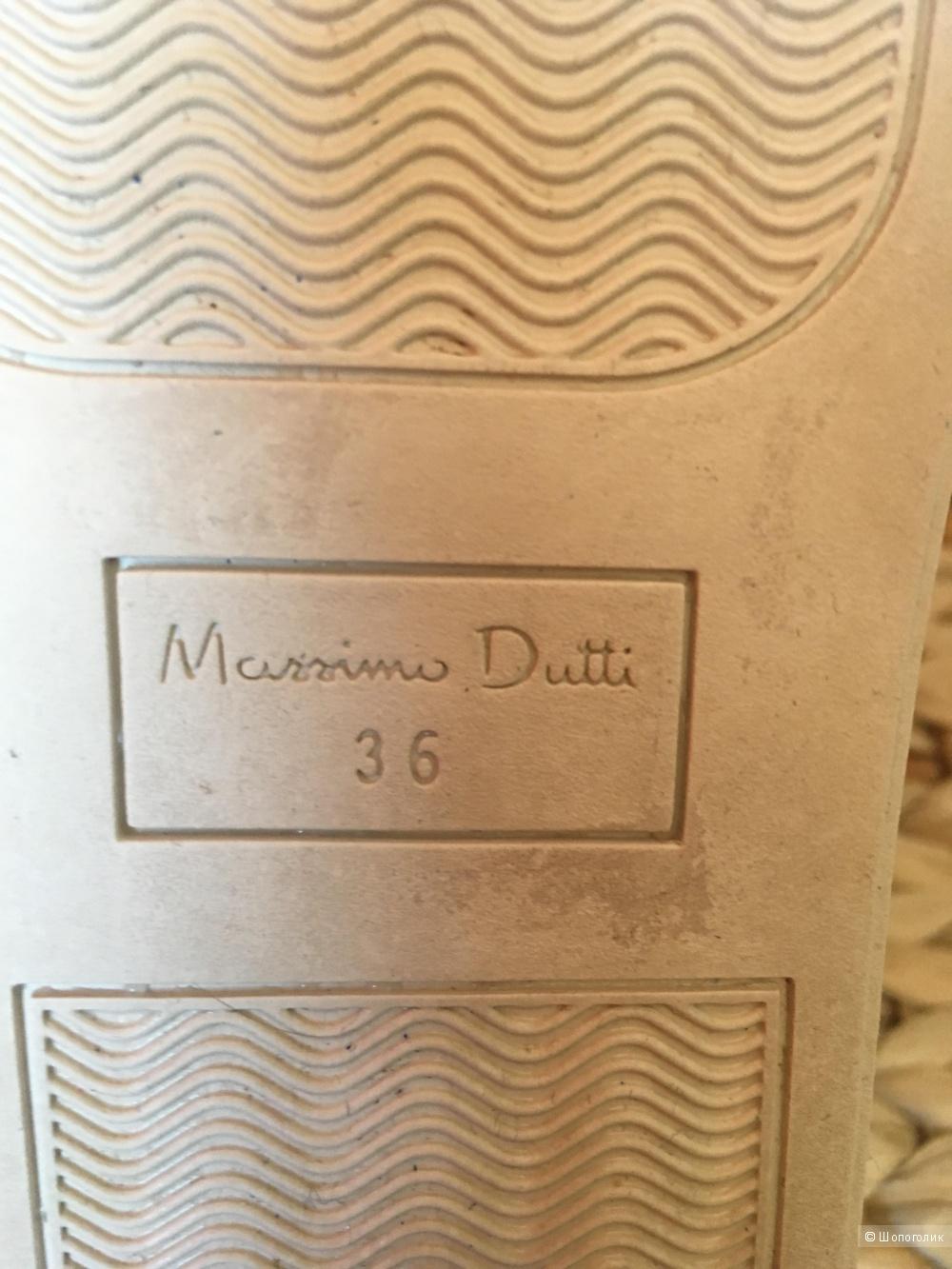 Бархатные кеды Massimo Dutti, размер 36