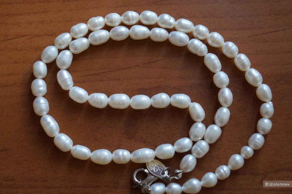 Ожерелье речной жемчуг, 44 см