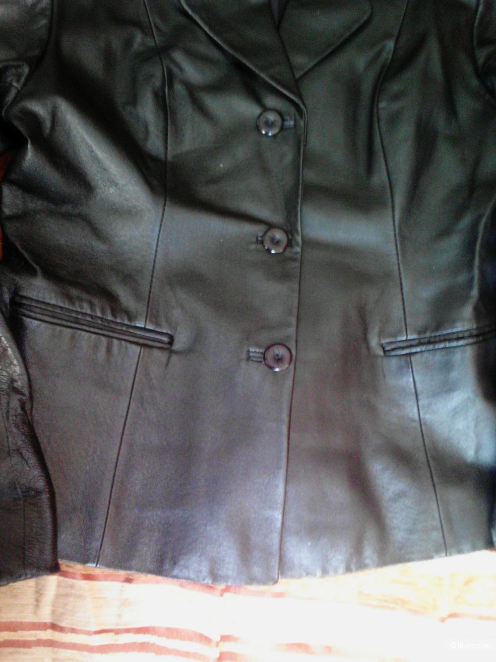 Кожаный пиджак. Puxin. 46 размер.