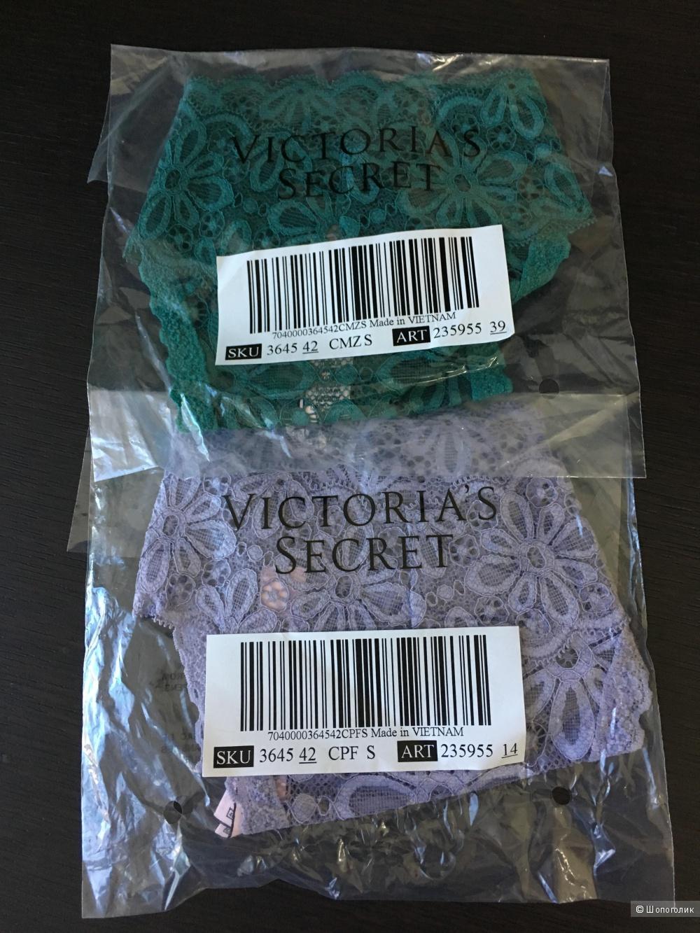 Кружевные трусики - стринги Victoria's Secret, размер S (сет из 2 штук)