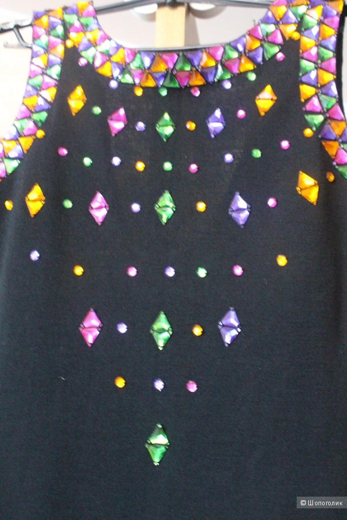Вечернее платье со стразами 38 размер наш 44-46
