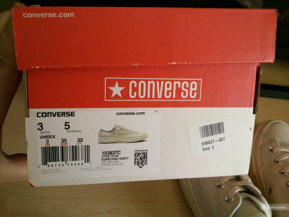 Converse  Chuck Taylor All Star 70s Ox, кеды. Размер: UK3, EU35 (23 см по стельке, в реале).