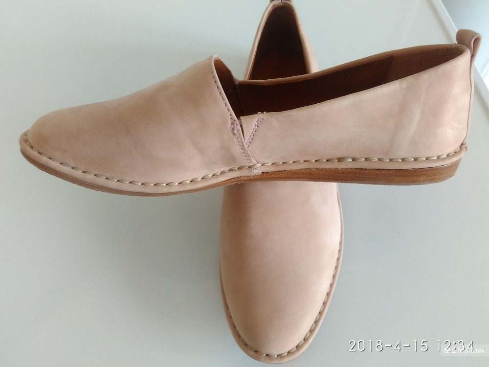 Туфли лоферы или слипоны кожаные The Fray Company 8 маркировка наш 37-37,5 или 38 на узкую ногу