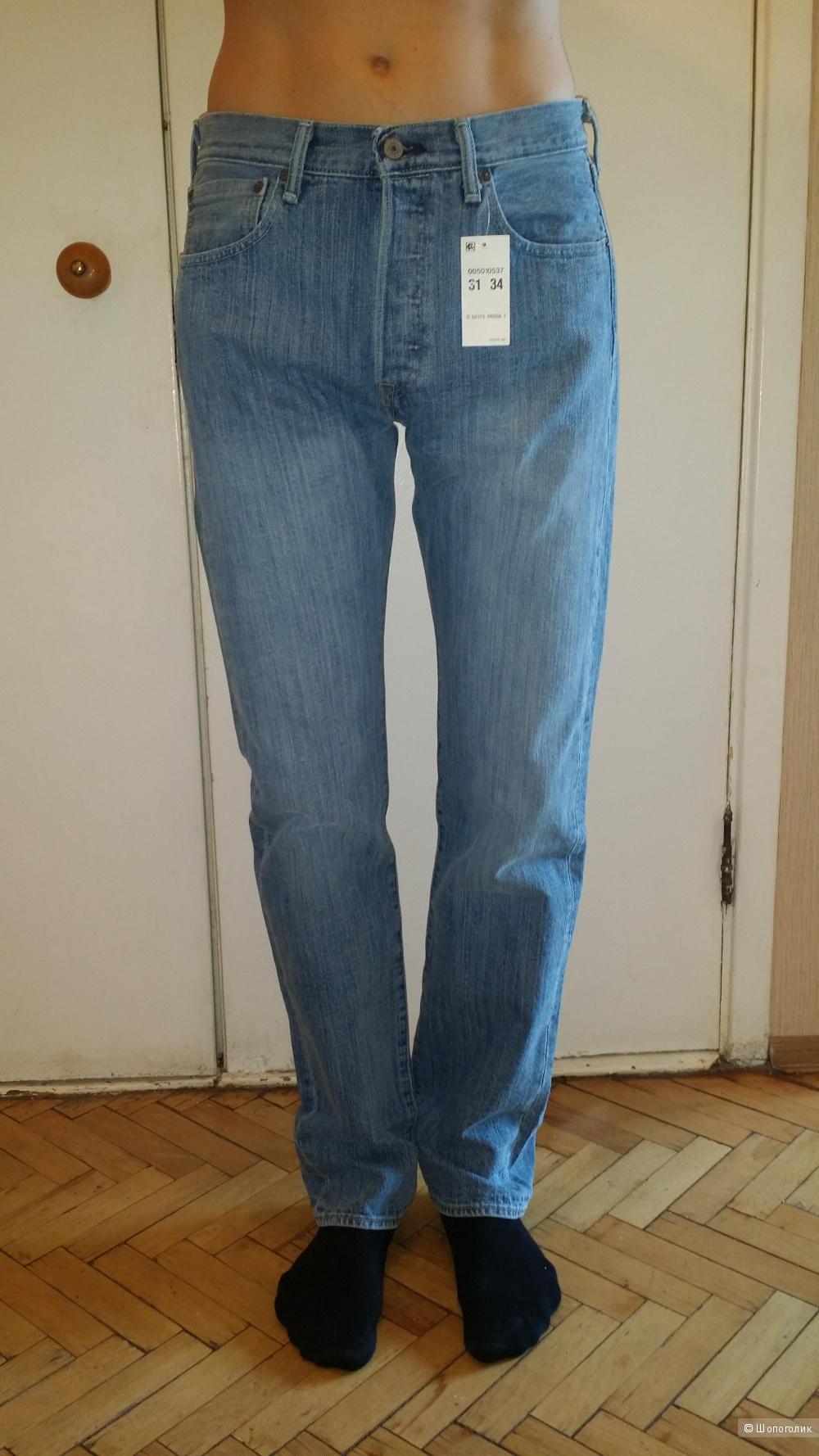 Мужские джинсы Levi's Men's 501 Original Fit Jeans Размер 31 х 34.