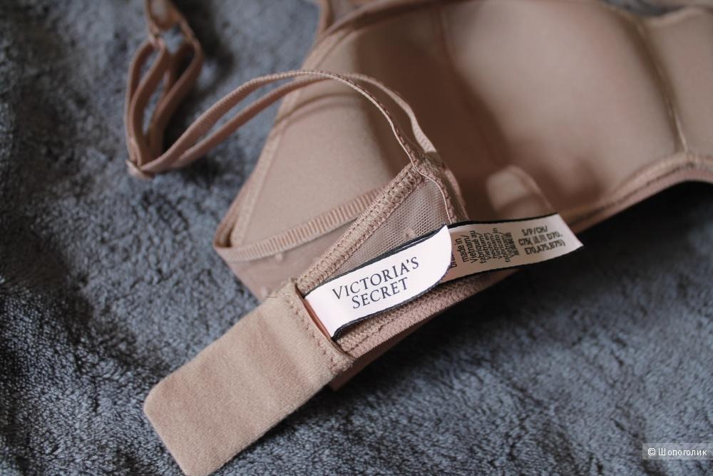 Victoria's Secret комплект Dot Mesh & Lace Scoop Bralette + Circle Lace Thong Panty верх S, низ М