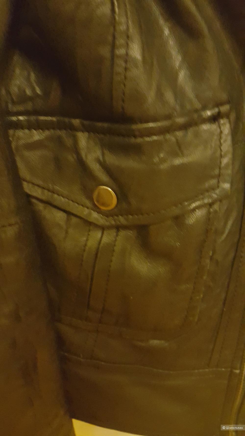 Куртка из натуральной кожи Zara, размер S