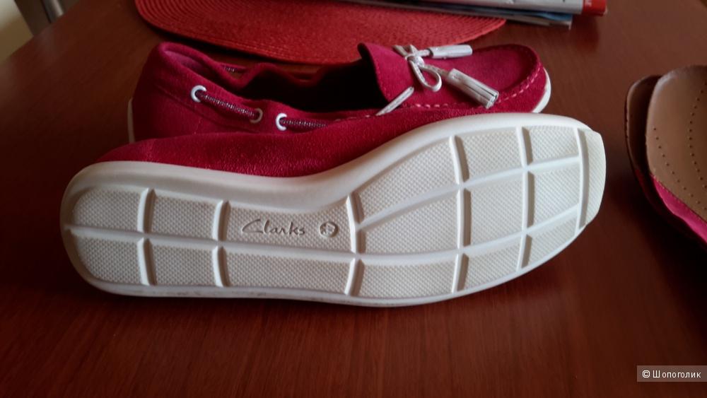 Мокасины женские Clarks размер eur 37 1/2.