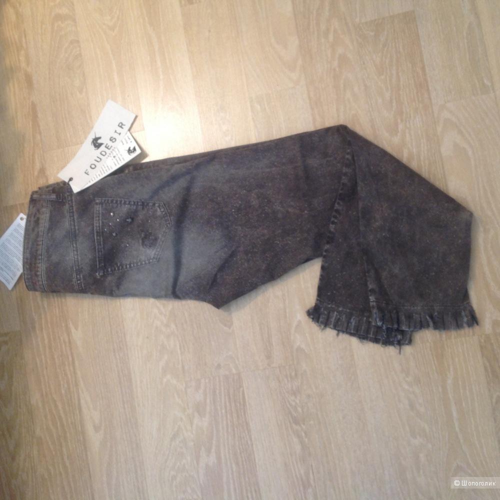 Укорочённые джинсовые брюки FOUDESIR, 44it, M