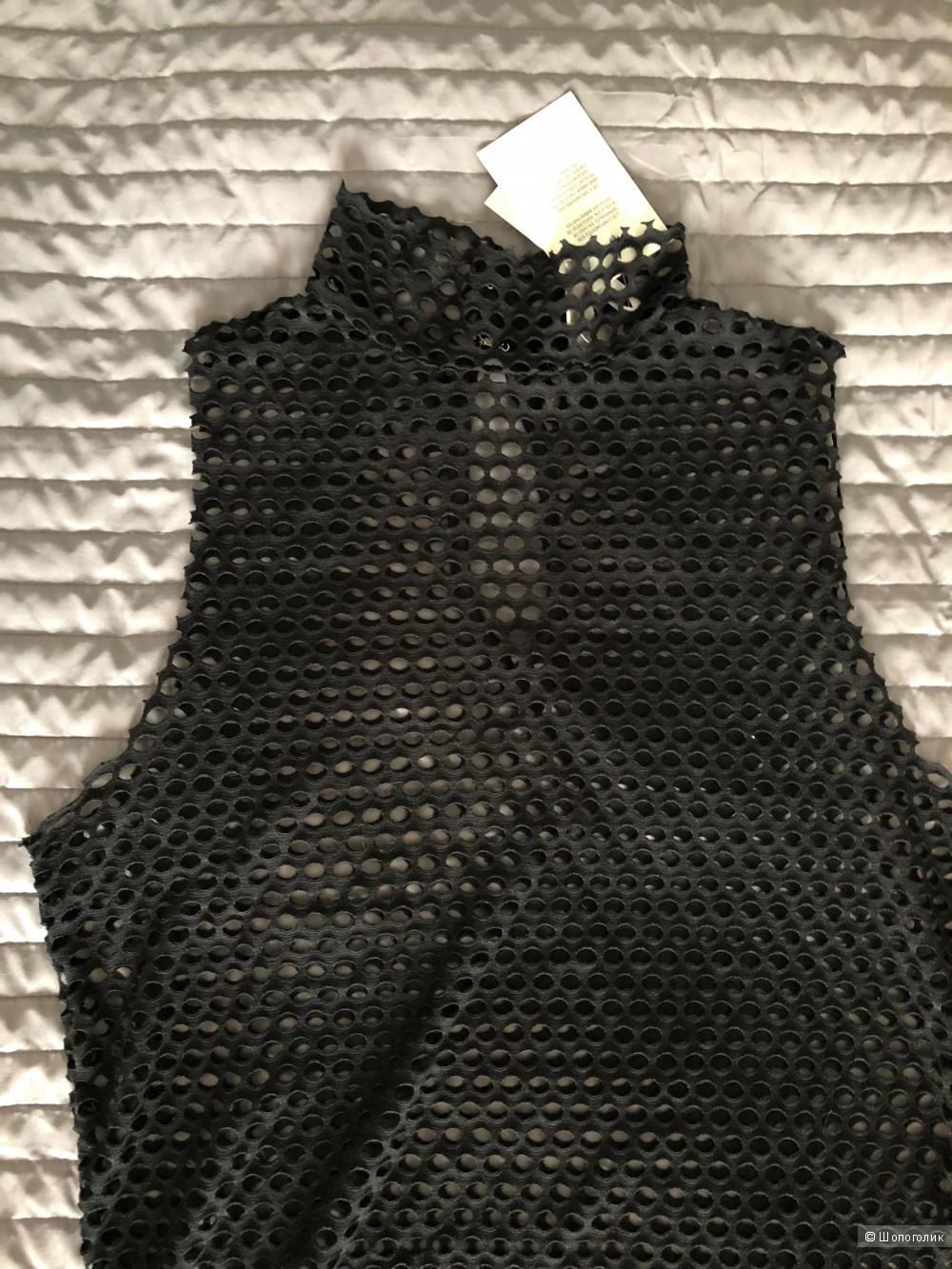 Платье Asos 2 в 1, верхний слой - сетка, размер 10 uk / 44 рус.