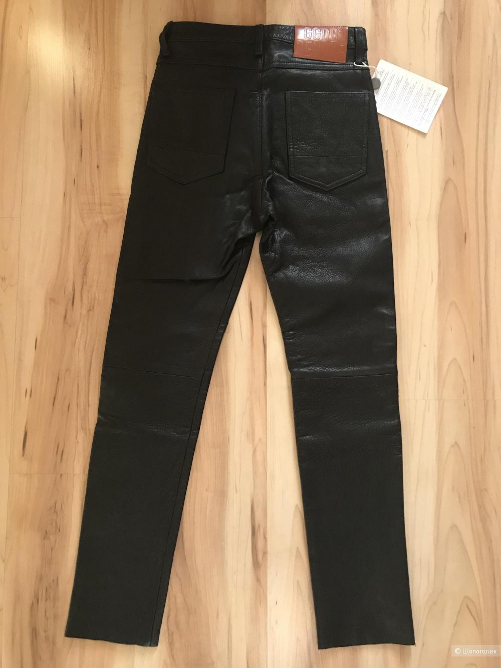 Golden goose кожаные брюки 27 размер