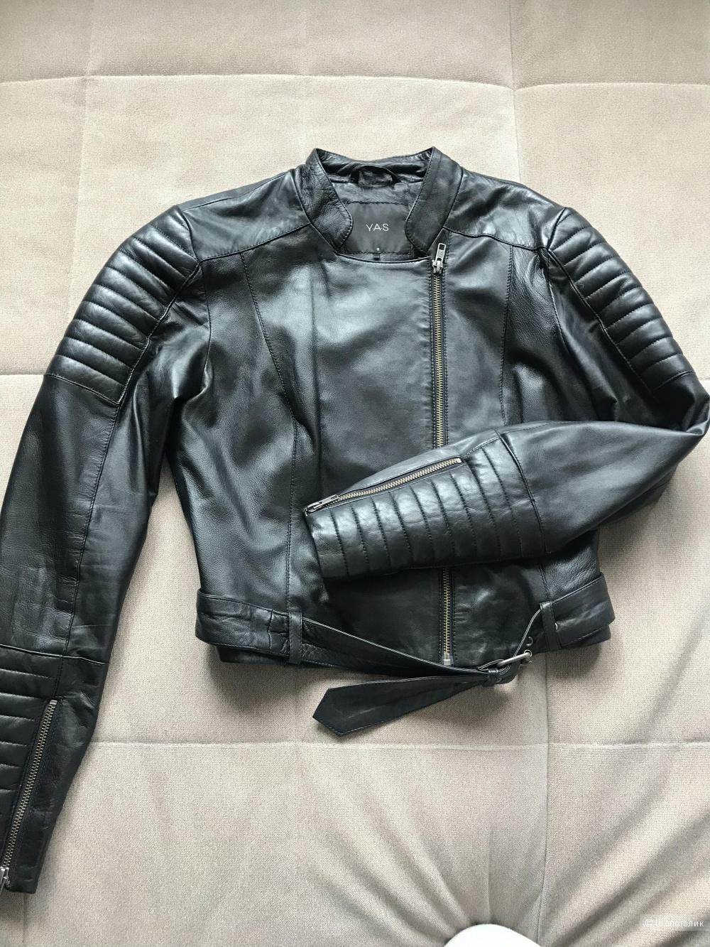 Кожаная женская куртка Y.A.S, 38 (рос.42-44)