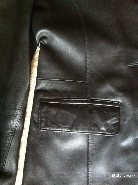 Кожаная куртка (пиджак) Young'S на размер 46-48