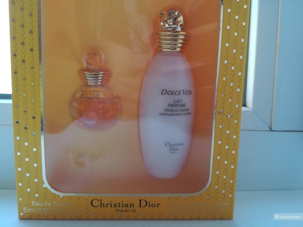 Миниатюрный набор Dolce Vita Dior  - 5 мл. EDT+30 мл парфюмированное молочко.