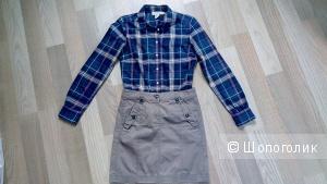Комплект юбка и рубашка  размер 42-44