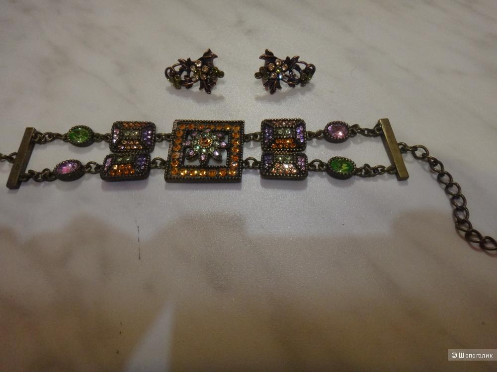 Комплект браслет + серьги