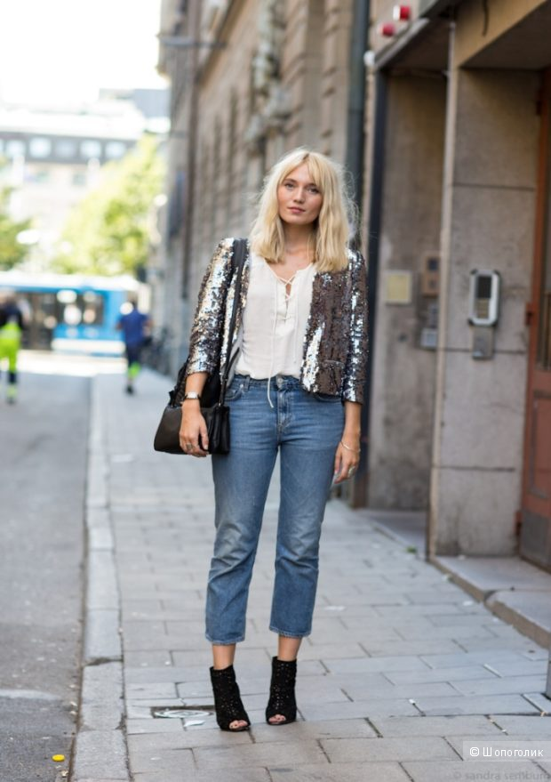 GUESS укороченные женские джинсы р.29 (М)