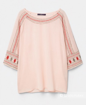 Блузка с вышивками, Violeta by mango, 46/48