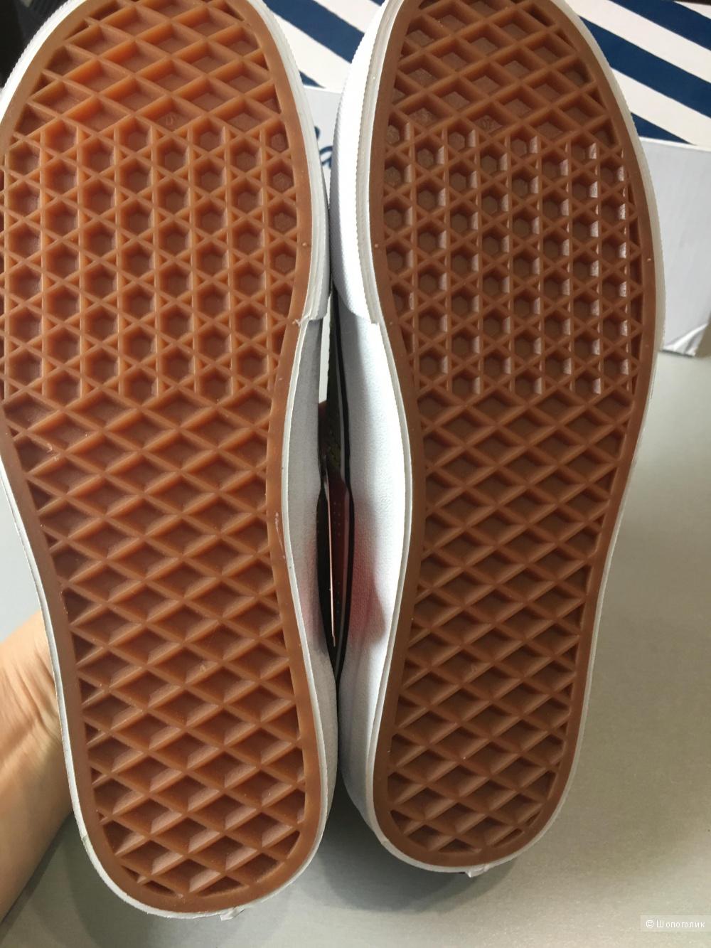 Кожаные кеды VANS, 36.5 (Европейский Размер) дизайнер:6.5 (US). 23 см по стельке.
