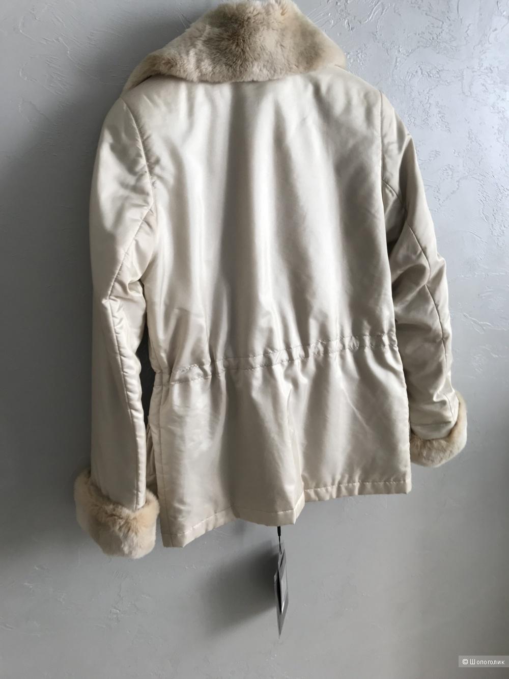 Куртка с натуральным мехом, Skinn Wille, размер 40-42