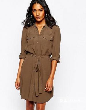 Льняное платье-рубашка  ATMOS, размер 44-46