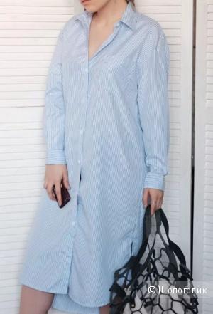 Платье-рубашка, ноу нейм, 46-52