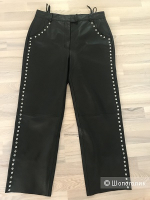 Кожаные брюки, размер 46-48.