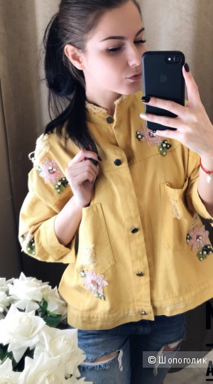 Джинсовая куртка Dior, over size