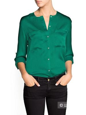 Фактурная блузка с атласным блеском Манго 42-44