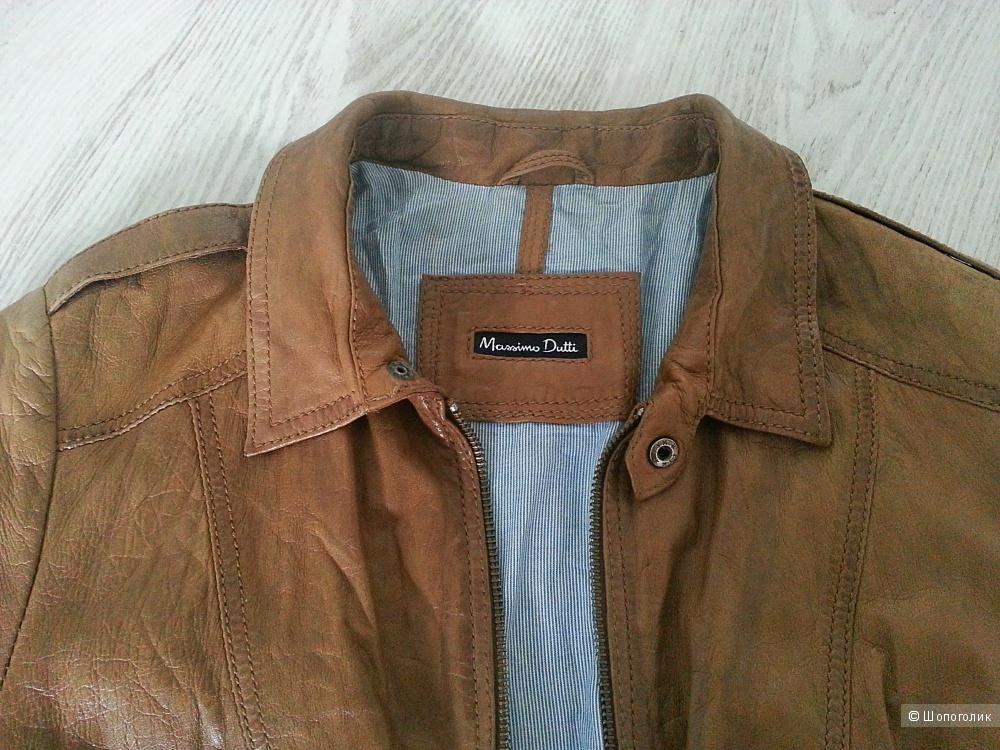Кожаная куртка Massimo Dutti размер S