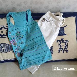 """Капри """"Lee"""", футболка """"Benetton """", xs- s"""