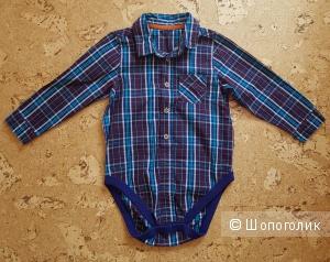 Рубашка-боди M&S на мальчика 1.5-2года(90см)