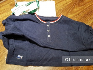 LACOSTE мужской домашний костюм футболка+штаны р. XL